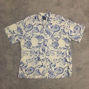 Jams World xl short sleeve Hawaiian leaf shirt